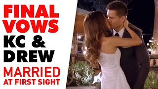 Drew and KC deliver their Final Vows | MAFS 2020