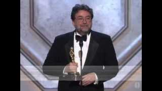 "Guillermo Navarro winning the Oscar® for Cinematography for ""Pan"