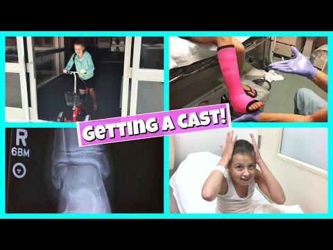 GABRIELLE'S BROKEN LEG | GETTING A CAST!