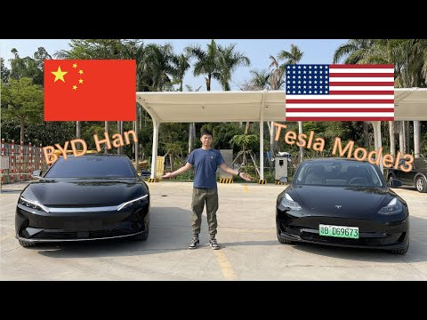 Tesla model 3 🇺🇸 or BYD Han 🇨🇳  Competition between US and Chinese Electric Vehicles