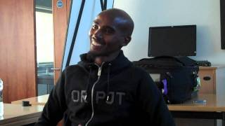 Interview with Mo Farah at Nike. Advice on running, racing and training.
