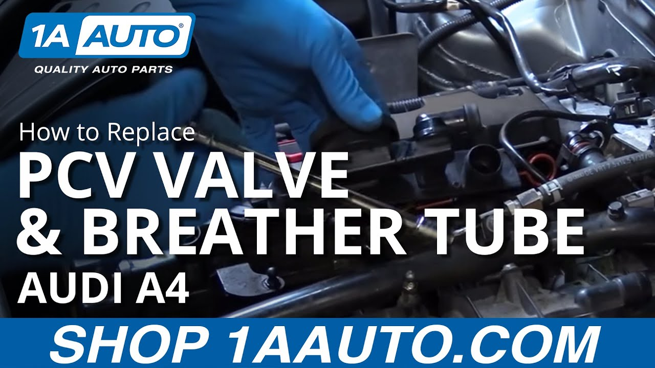 hight resolution of how to replace pcv valve and valve cover breather tube 04 09 audi a4