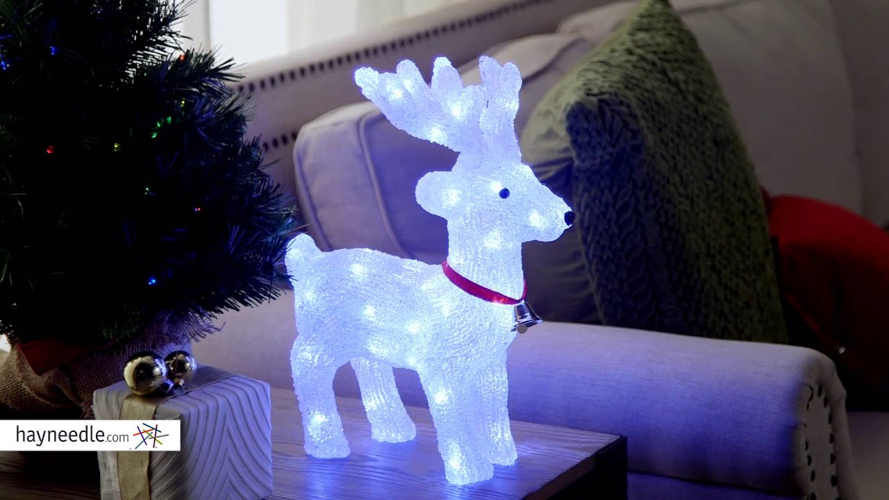 Lighted White Indoor/Outdoor Reindeer with LED Lights - Product Review Video & 13 in. Lighted White Indoor/Outdoor Reindeer with LED Lights ...