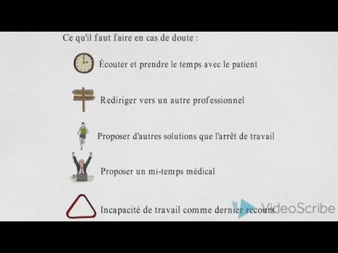Donner un certificat d'invalidité de travail (burnout ou dépression)