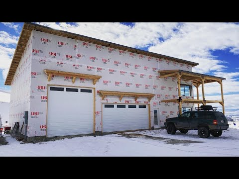 #012 Building a shop with living quarters! Garage doors!(60x40, shouse, shophouse)
