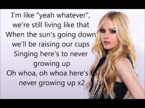 Heres to never growing up Lyrics  Avril Lavigne