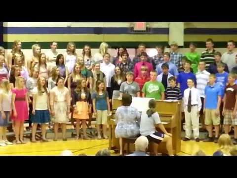 """Sumner Fredericksburg Middle School sings """"Praise His Holy Name"""""""