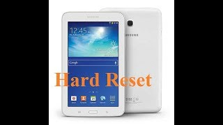 Samsung Galaxy Tab 3 lite SM-T116 hard reset