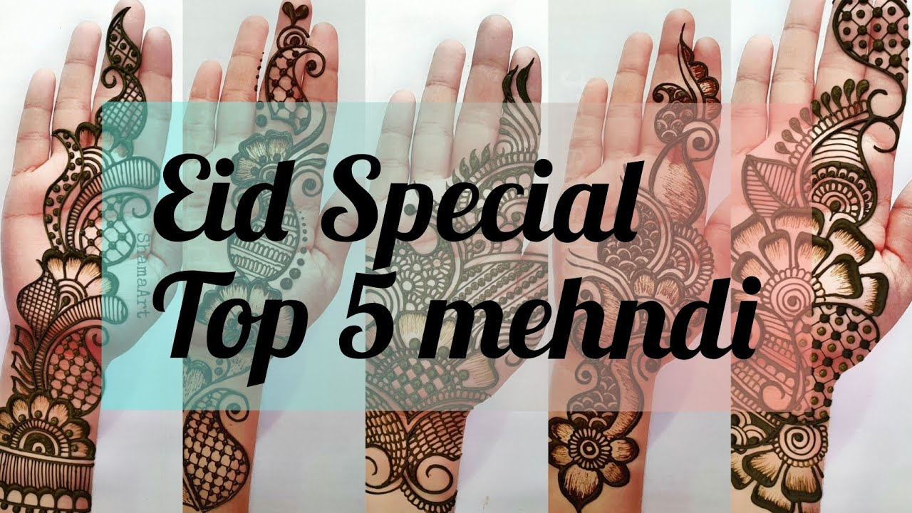 Top 5 Eid Special Arabic Mehndi Design | Beautiful Mehndi designs front hand | आसान मेहंदी डिजाइन