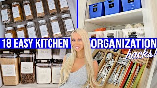18 EASY KITCHEN ORGANIZATION IDEAS 2020! AMAZON, DOLLAR STORE, IKEA HACKS