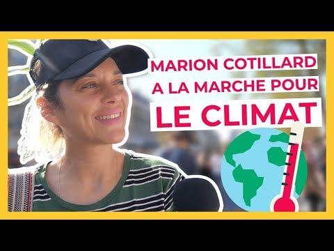 MARION COTILLARD A LA MARCHE POUR LE CLIMAT