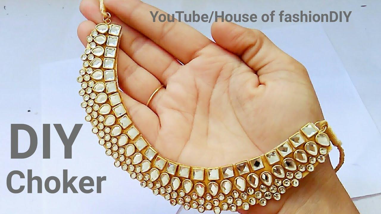How To Make Designer Kundan Choker At HomeLatest JewelleryParty