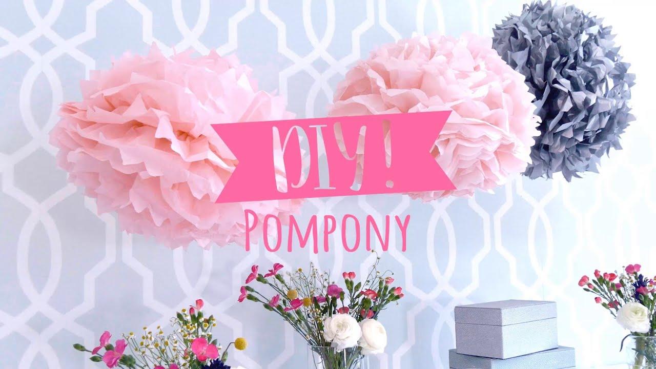Ozdoby Z Bibuły Eleganckie Pompony Westwing Diy