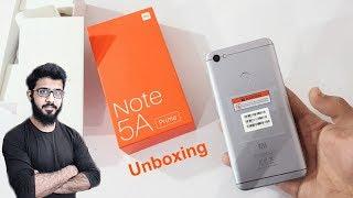 Xiaomi Redmi Note 5a Prime Unboxing, First Look & Review!!! { Urdu/Hindi }
