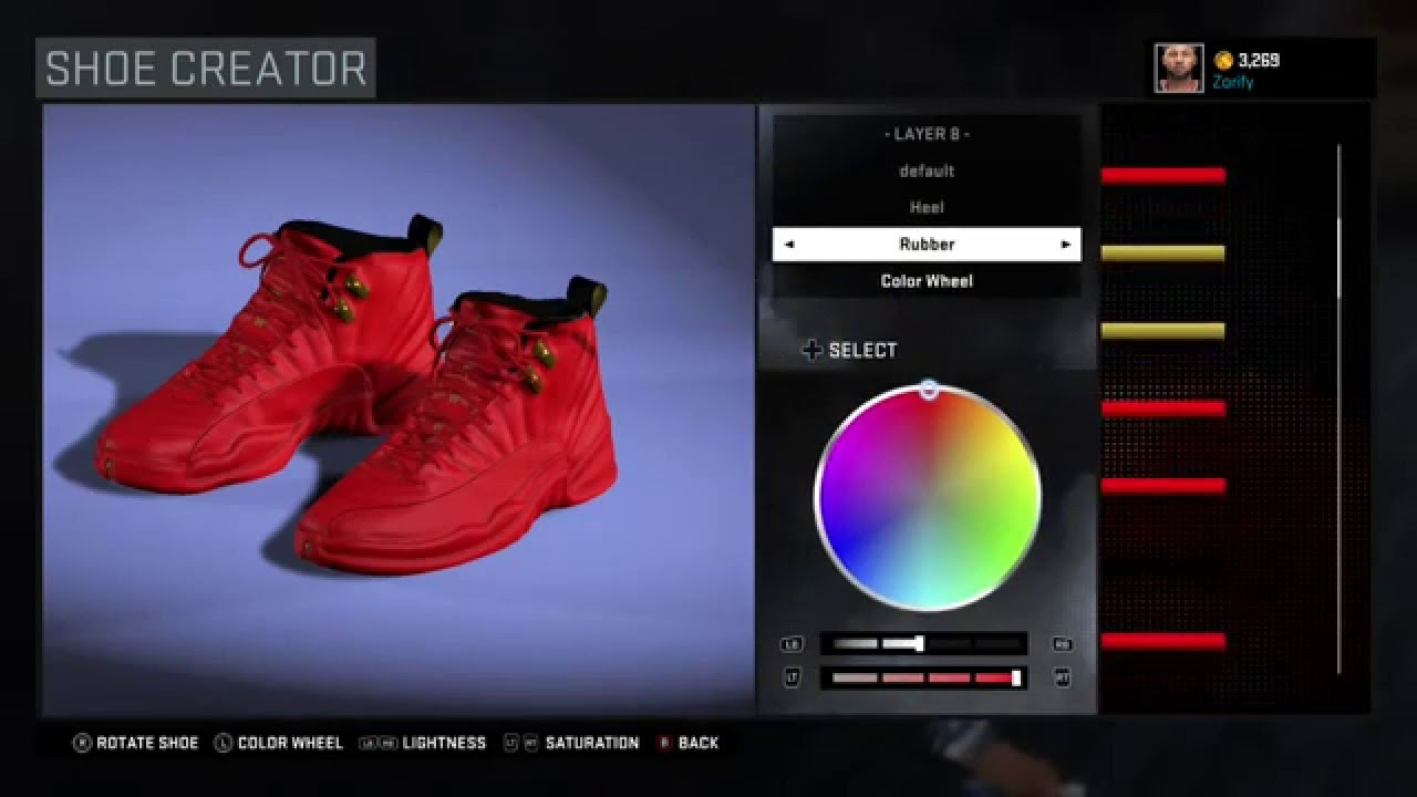 new concept ff5da e2bb6 NBA 2K16 Shoe Creator - Air Jordan 12 Custom