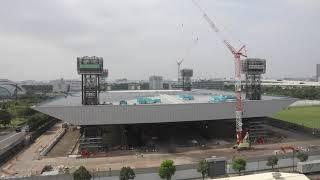 【東京2020大会】東京アクアティクスセンター タイムラプス映像