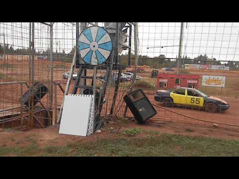 forward backward race heat 5 with rollover tomahawk speedway eve 2018