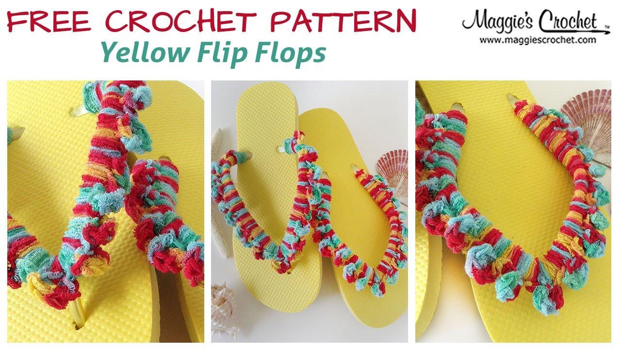Yellow flip flop free crochet pattern right handed youtube yellow flip flop free crochet pattern right handed bankloansurffo Gallery