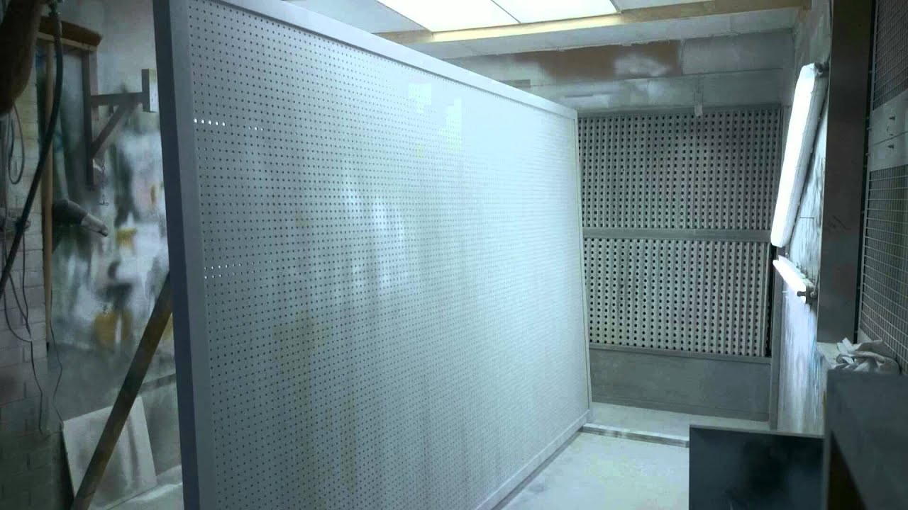 Sprayed pegboard Fast motion - YouTube