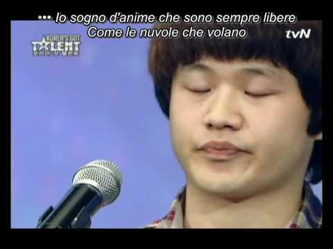 Choi Sung-Bong ♪ Nella Fantasia ♪ Somente o canto ♪ Legendado ♪ Korea's Got Talent 2011
