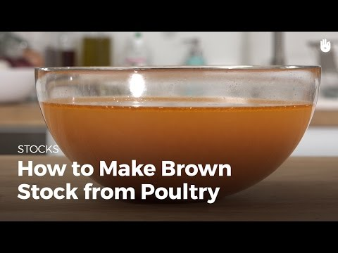 How to make brown stock from poultry | Cooking Chicken