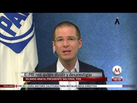 Entrevista a Ricardo Anaya sobre el conflicto en el PAN