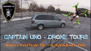 Catpain UNO FPV Drone Tours   Winter Quadcopter Ripping from the FPV Shuttle Van