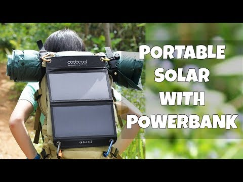 Portable USB Solar Panel with Battery!