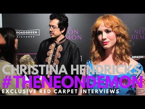 Christina Hendricks interviewed at the LA Premiere of The Neon Demon #TheNeonDemon
