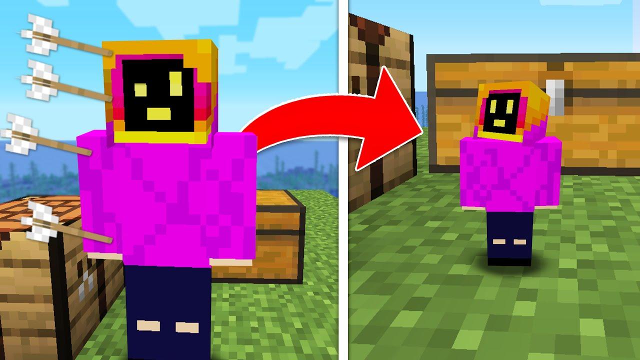 Minecraft, But Damage Makes You Shrink...
