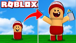 LITTLE BABY TURNED in eine GIANT BABE in ROBLOX 👶🍼 - Baby Simulator 🎮