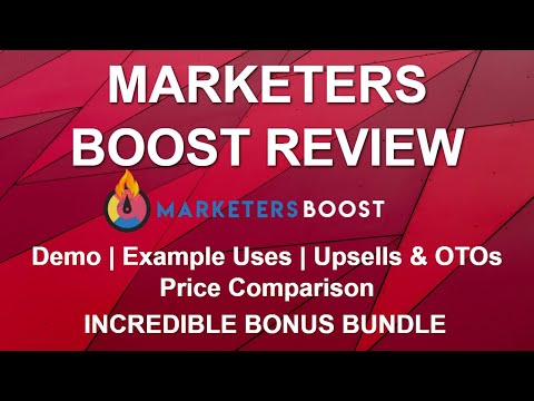 Marketers Boost Review 🚀🚀 | Bonuses | Demo Example | Comparison | Upsells & Pricing thumbnail