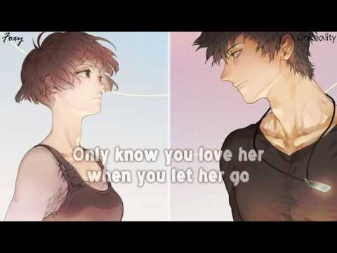 Nightcore - Drop in the ocean // Let her go [MushUp]