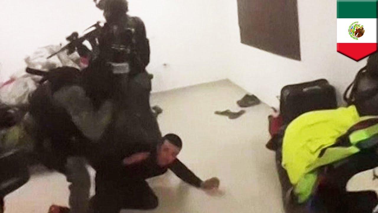el chapo raid  video shows violent shootout between
