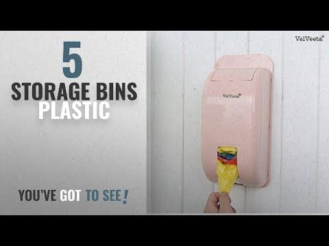 top-10-storage-bins-plastic-[2018]:-velveeta-new-wall-mount-container-holder-garbage-bag-dispenser