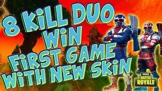 New Fortnite Battle Royale Arctic (USA) skin 8 kill duo w/eagleeyez