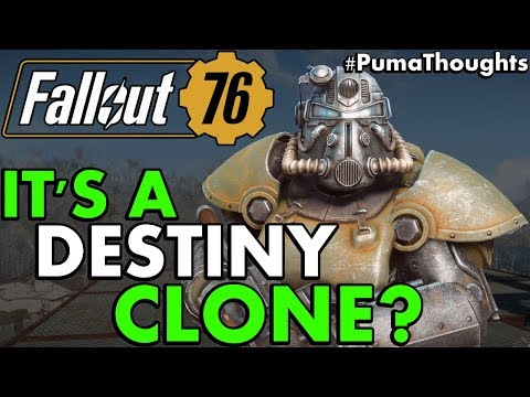Fallout 76 Appears to be a Destiny Clone...