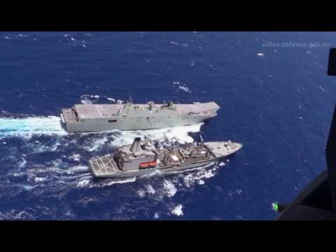 LHD Canberra, vertrep and RAS, Rimpac