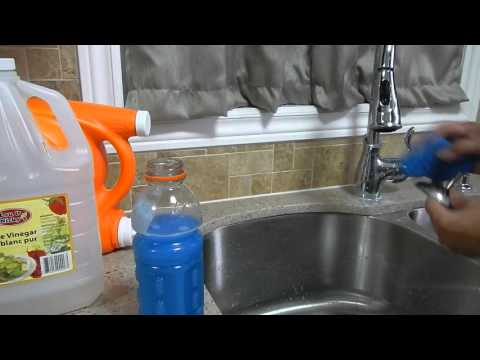Money Saving Tip - How to mix liquid cleaner. How to clean stainless steel sink.