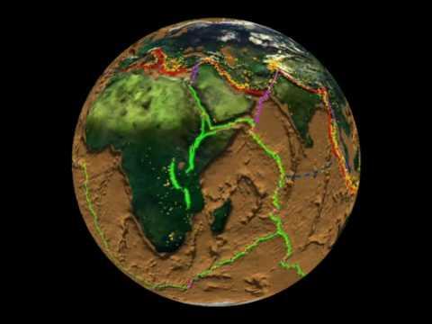 Indian Ocean View: Cumulative Earthquake Activity: 1980 - 1995