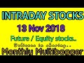 Day trading stocks 13-November-2018 Best stocks with huge potential for intraday