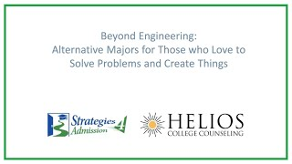 Beyond Engineering: Alternative Majors for Those Who Love to Solve Problems and Create Things