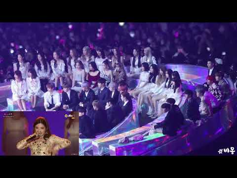 181201 BTS, WANNA ONE, BLACKPINK, Loco, GFRIEND, MOMOLAND, BOL4 reaction to (G)I - DLE performance