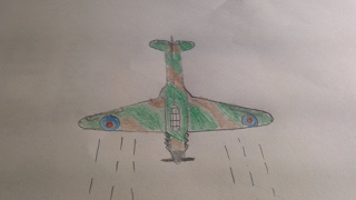 How to draw a ww2 hurricane fighter