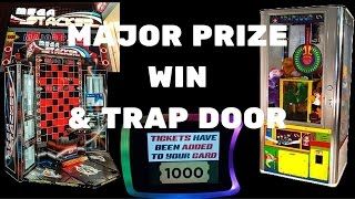 Mega Stacker Major Prize Win 1000 Arcade Jackpot! & Trap Door Wins Dave & Busters! Arcadejackpotpro