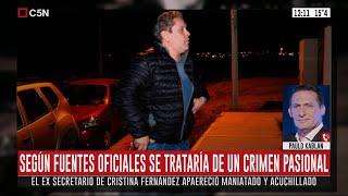 Paulo Kablan Sobre El Hallazgo Del Cuerpo De Fabián Gutiérrez, Exsecretario De Cristina Kirchner