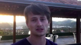 Maarten werkt zich in het zweet