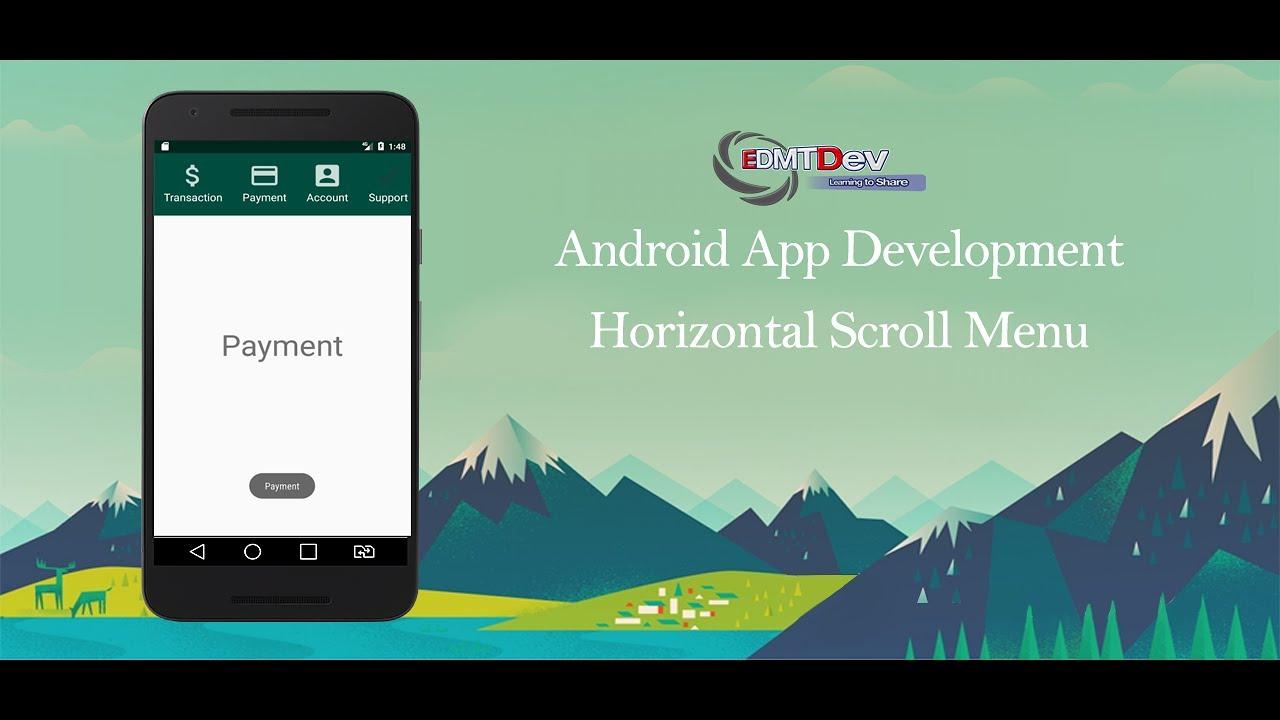 Android Studio Tutorial - Horizontal Scroll Menu