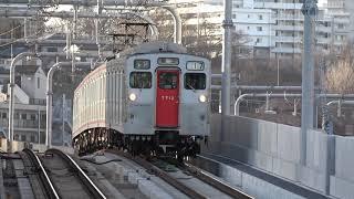 相鉄7712F 17運行 各停横浜 天王町入線