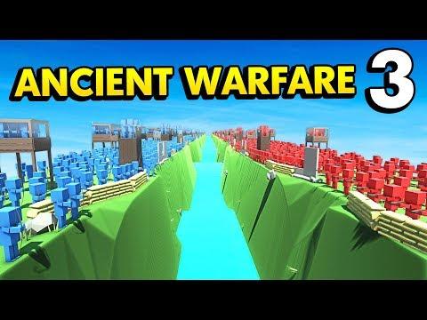 BLUE ISLAND vs RED ISLAND IN ANCIENT WARFARE 3 (Ancient Warfare 3 Funny Gameplay)